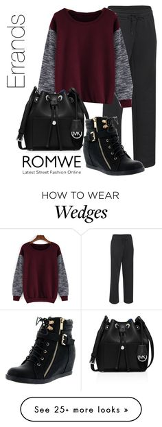 """""""Errands"""" by cartersplace on Polyvore featuring Under Armour, MICHAEL Michael Kors, Top Moda and romwe"""