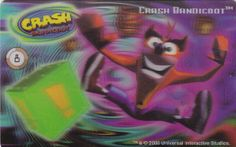 CARD CARTA 3D  CRASH BANDICOOT MR. DAY PARMALAT 2000 CARTA N.  8  OTTIMA