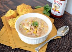 White Chicken Chili – lightened up (full of protein and easy to boot) (Best Chicken Chili)