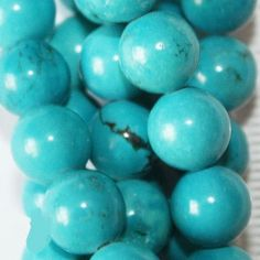 Blue Turquoise Magnesite beads, bead size 8 mm, hole size 1.2 mm, weight 34 g, price for 1 strand (16 inch), approx. 50 beads. Turquoise magnesite /