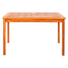 Vifah Rectangular Table - Brown