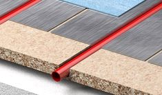 Econna Joisted water system alluminium diffusion plate for pipes  FOR BATHROOM FLOORS