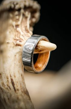 Handmade wooden veneer ring with smoky quartz Handcrafted ring with healthy stones