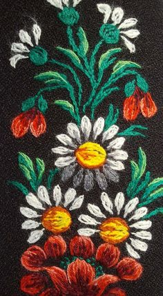 Traditional Flower embroidery from Muhu island, Estonia