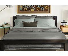 Top-stitch Charcoal Ensemble - Bedding Ensembles - Bedroom - Room & Board