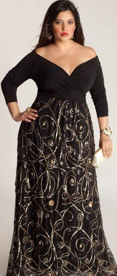 Uzun eteği desenli yazlık büyük beden elbise modeli