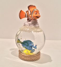 Personalized Snow Globe  Nemo and Dory Snow by GingerspiceStudio