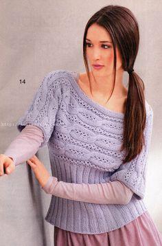 Пуловер с короткими рукавами спицами   Своими руками — интернет журнал