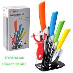 [Bear Life] Ceramic knives Ceramic knife set Include 1x Peeler,1x 3 inch Peel Knife, 1x 4 inch Paring Knife, 1x 5 inch Utility Knife, 1x 6 inch Chef Knife and 1x Acrylic Knife Holder in Retail Package Timhome http://www.amazon.com/dp/B00P5SGDUS/ref=cm_sw_r_pi_dp_BhWbvb195XX1Q