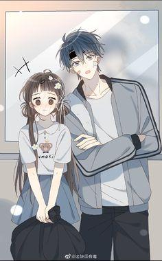 Anime W, Anime Couples Manga, Cute Anime Couples, Anime Guys, Tomoyo Sakura, Anime Girl Brown Hair, Anime Stories, Manga Collection, Anime Girl Drawings