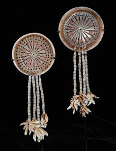 Solomon Islands, Earrings, shell, c. 1890.