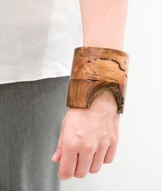 Puesta de Sol Recycled Colombian Wood Bracelet-Extra Large Width-Red