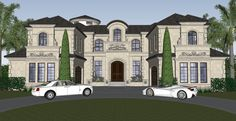 Palatial Manor House Plan - 31827DN | European, Luxury, 1st Floor Master Suite, 2nd Floor Master Suite, Butler Walk-in Pantry, CAD Available, Den-Office-Library-Study, Elevator, Media-Game-Home Theater, PDF | Architectural Designs