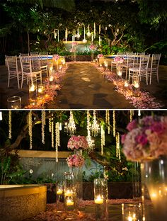Holy moly! Talk about mood lighting and creating a romantic ambiance!