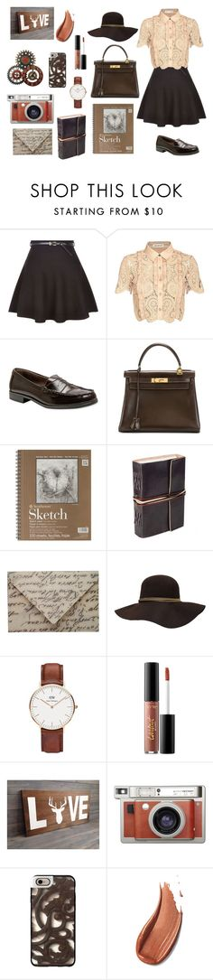 """Vintage Heart"" by flowerdreams on Polyvore featuring self-portrait, Bass, Hermès, Fountain, Daniel Wellington, tarte, Lomography, Casetify and vintage"