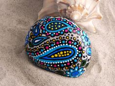 River Gypsy / Painted River Rock / Greece/ by LoveFromCapeCod, $49.00