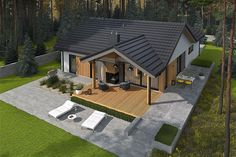 Bungalow Renovation, Bungalow House Plans, Bungalow House Design, New House Plans, Small House Design, Dream House Plans, House Renovations, Kitchen Renovations, House Remodeling