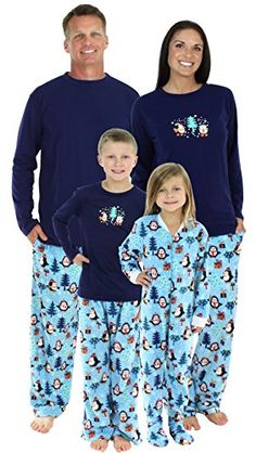 SleepytimePjs Family Matching Winter Penguin Fleece Pajamas PJs Sets for  the FamilyWomens STMF3026W11352X    Click on the image for additional  details. 80fa36cb0