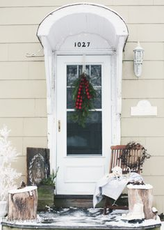 Rustic-Nordic-Style-Front-Porch-in-Winter
