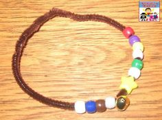 This Christmas story bracelet craft is a big hit with my Sunday School class every year.