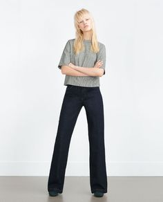 Image 3 of BELL BOTTOM JEANS from Zara