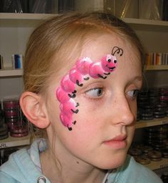 pink caterpillar face painting design #NoelitoFlow please repin & like, listen to Noelito Flow Music. Thank You ,https://www.twitter,com/noelitoflow More