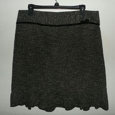 "Black Tweed Print Skirt Great skirt. Slight ruffling at the hem line. Back zipper. Polyester blend.  Waist: 36"" Length: 22""  ---} Price firm unless bundled Tracy Evans Skirts"