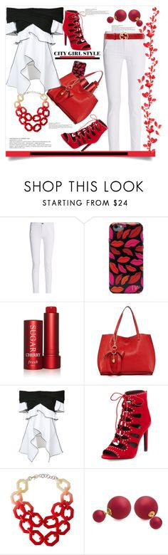 """""""City Girl Style"""" by helenaymangual ❤ liked on Polyvore featuring rag & bone, Diane Von Furstenberg, Fresh, Persaman New York, Proenza Schouler, BCBGeneration, Alisha.D, Bling Jewelry and Gucci"""