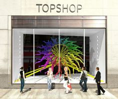 The incredible @Topshop concept design by NEON for RIBA London, Regent Street Windows Project