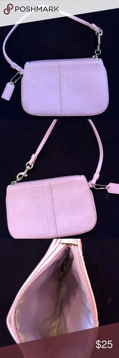 Authentic Coach wristlet Authentic Coach wristlet, lavender, comes with Coach storage bag Coach Bags Clutches & Wristlets