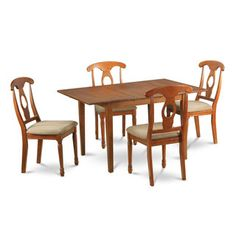 Shop for Saddle Brown 5-piece Kitchen Nook Table and 4 Brown Dining Chairs. Get…