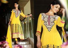 Aesthetic Yellow Salwar Kameez | StylishKart.com