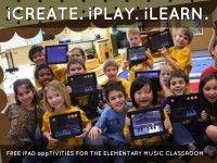 """iCreate. iPlay. iLearn. Free iPad app-tivities for the Elementary Music Classroom"" - A Haiku Deck by Leigh Anne Roeber #setyourstoryfree"
