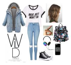 """Untitled #65"" by emma1356 ❤ liked on Polyvore featuring H&M, Topshop, Converse, Disney, Frends and Casetify"