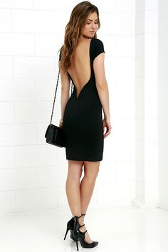 We dare you to flaunt your figure in the Daring Dame Black Backless Bodycon Dress! Backless silhouette has a hidden V-bar for added structure, above a tube skirt. Sexy Backless Dress, Bodycon Dress, Low Back Dresses, Formal Dresses, Tube Skirt, Online Dress Shopping, Junior Dresses, Dress Backs, Clothes For Women
