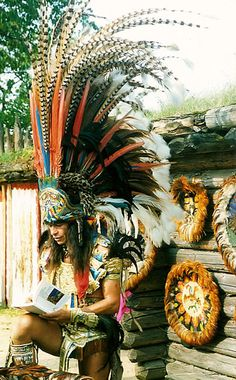Aztec Costumes | Xokonoschtletl Gomora in Aztec Traditional Ceremonial Dress