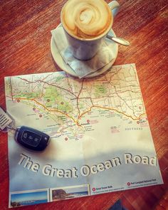 Let Day 3 commence! Port Fairy to Mount Gambier... Blowholes Lighthouses Seal Colony Petrified Forest all on the to do list! Thank god for for that ONE Cafe that opened at 7am on a Sunday #coffee #greatoceanroad #australia #roadtrip #passport #portfairy #holiday #smile #happy #metime #YOLO #solo #solotravel #solotraveler by rowena_halford