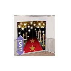 RED CARPET HOLLYWOOD SCENE SETTER Happy Birthday Party Wall Decoration Decor kit New ** Be sure to check out this awesome product.