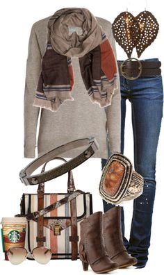 A fashion look from October 2012 featuring Zadig & Voltaire sweaters, Étoile Isabel Marant jeans and Not Rated ankle booties. Browse and shop related looks. Fall Winter Outfits, Autumn Winter Fashion, Fall Fashion, Casual Outfits, Cute Outfits, Fashion Outfits, Ootd, What To Wear, Style Me