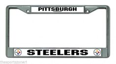 Pittsburgh Steelers Automobile Chrome License Plate Frame #PittsburghSteelers Visit our website for more: www.thesportszoneri.com