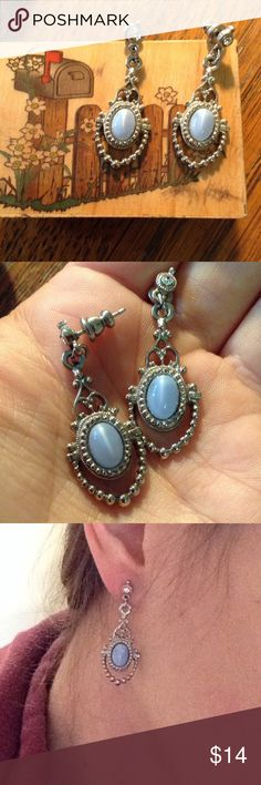 Periwinkle Stone Fairy Queen Chandelier Earrings Magical fairyland Celtic goddess earrings. Wood nymph moonlight dancer would twirl in these and a long white dress. Water nymph. Great condition. Anthropologie Jewelry Earrings
