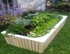 Alte Badewanne als Hochbeet oder Kleinstgarten