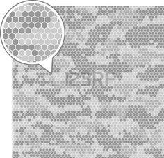 digital camouflage: Digital camouflage seamless patterns - vector hexagons. Illustration