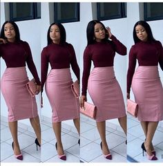 CLASSY ANKARA FORMAL STYLES, I have lots of classy outfit inspiration to show but before then permit me to talk about the word classy. Classy Work Outfits, Classy Dress, Office Outfits, Office Attire, Boho Outfits, Dress Outfits, Fashion Outfits, Workwear Fashion, Womens Fashion