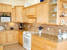 Kitchen Countertop Paint Uk : kitchen paint colors with maple cabinets tried to get a yellow to ...