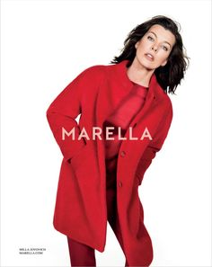Boiled wool coat Milla Jovovich Gets Arty for Marella's Fall 2014 Campaign