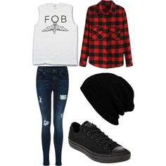 Fall Out Boy Concert! by xxxyoungbloodxxx on Polyvore featuring Converse, Hipster and Punk