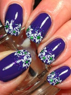 Purple. White Flowers ❤