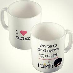 Rainha dos cachos  Visite o site www.stamptag.com.br @stamptag #canecas #presente #personalizadas #tanlup #pagseguro #StampTag #mug #decoração #frases