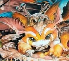 [FanArt] Gnar from League of Legends drawing by Roberto Vieira from Santo André Brazil